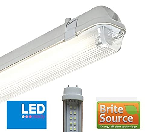 5Ft T8 Fluorescent High Frequency Batten Fitting (LED Single - Non Corrosive ...