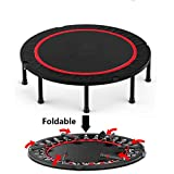 """40"""" Niet Folding Fitness Mini Trampoline Rebounder For Kids, Cardio Jump Fitness Workout Trainer For Adults Indoor Garden Workout, Max Load 660lbs"""
