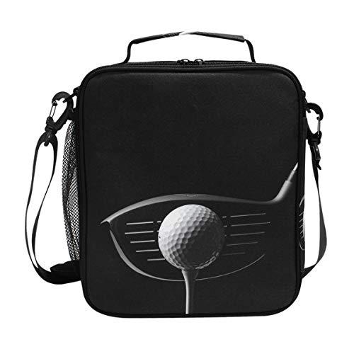 Bennigiry golf fitness quadrato borsa termica per il pranzo borsa termica con cerniera per pranzo pasto borsetta con tracolla per bambini da uomo e da donna