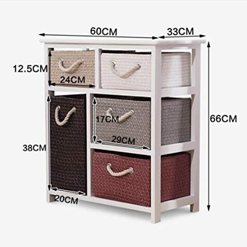 LXD Multifunktionale Nachttisch, Haushalt Nachttisch Rattan Storage Locker Weizenstroh Kommode, Living Storage Table- (26X13X23.6 Zoll) Weiß - Sockel-storage-bett