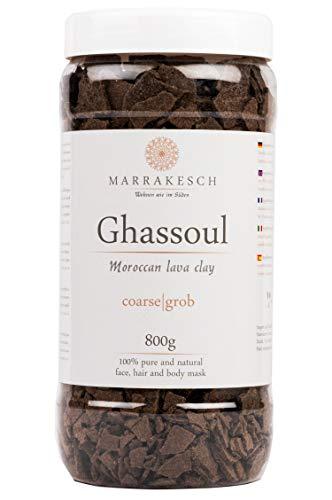 MARRAKESCH Ghassoul Rhassoul granules 800g | Argile marocaine originale bio comme masque facial pour le nettoyage du visage | Gommage naturel pour la peau les cheveux le visage | comme soin du corps