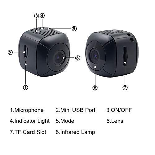 Telecamera Nascosta Spia Mini Microcamere TANGMI 1080P HD Spy Cam Videocamera Portatile Micro Telecamera di Sorveglianza Domestica Detección de Movimiento Angolo di Campo Visivo di 120 - 7