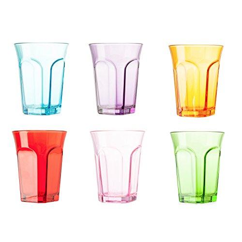 tivoli bicchieri  Tivoli Bicchieri Colorati / Set da 6 / 260 ml / Bicchieri per Acqua ...