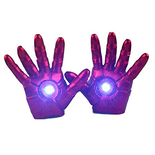 Xiao Jian- Superheld Iron Man - Handschuhe mit LED-Licht PVC Action Figure Toy - 1: 1 Handschuhe @