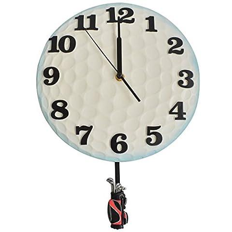 Giftgarden Elegant Pendulum Clock Golf Ball Model Wall Decor Crafts
