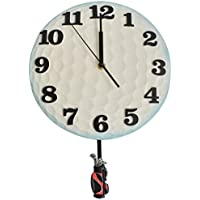 Giftgarden® Orologi da Parete a Forma di Golf Vibrazione Bianca