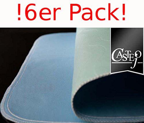 6er PACK !! Inkontinenzauflage/Unterlage/Bettschutz/Hygieneschutz ca. 75x90cm cm blau/weiß 1Wahl Top Qualität, 100{b7dd9b1d9b8405bec4ced1993208dd224011d41ea6e9da5b75f3e241ed1269d6} Polyester, kochfest, wiederverwendbar, Castejo (6)