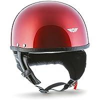MOTO HELMETS D22-MONO - Casco abierto para motocicleta, incluye bolsa de transporte de
