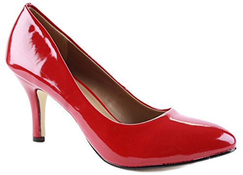 Red Patent Size 5 - Ladies Womens Work Casual Office Smart Low...