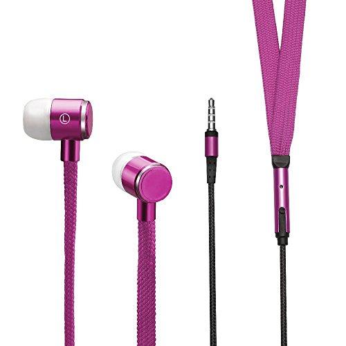 rsenkel Design | Stylishe In-Ear Kopfhörer mit Mikrofon 3,5mm Klinke für Apple IOS, Android usw. In Pink ()