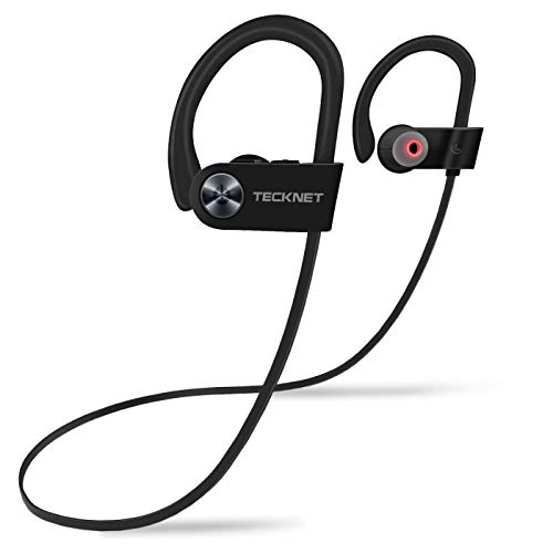 Tecknet cuffie bluetooth 4.1, auricolare wireless impermeabili ipx7 e headphone antirumore per sport, compatibile con apple watch, iphone, huawei, samsung e altri dispositivi
