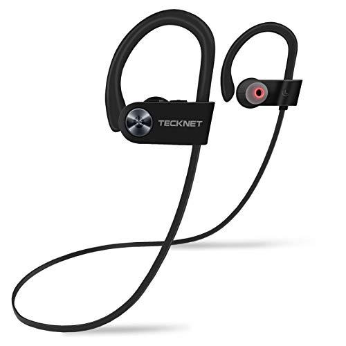 TeckNet Cuffie Bluetooth 4.1, Auricolare Wireless Impermeabili IPX7 e Headphone Antirumore per Sport, Compatibile con Apple Watch, iPhone, Huawei, Samsung e Altri Dispositivi