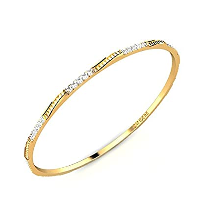 Candere By Kalyan Jewellers Contemporary Collection 22k Yellow Gold Celina Bangle