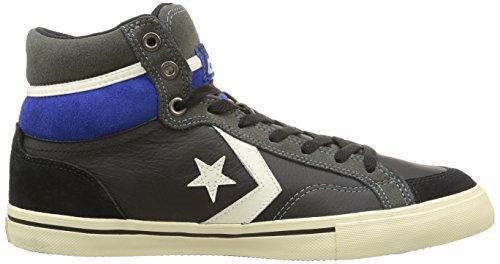 Converse Pro Blaze Hi Leather/Suede Sneaker,Unisex Adulto Black/Charcoal