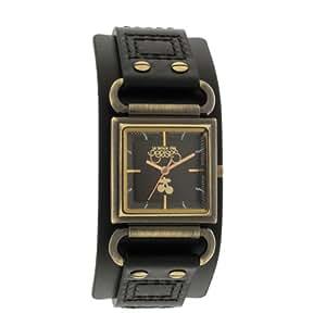 Le Temps des Cerises - TC95BKC - Montre Femme - Quartz Analogique - Cadran Noir - Bracelet Cuir Noir