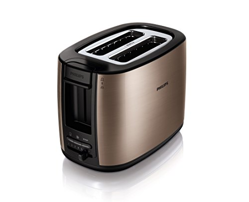 Philips HD2628/70 Toaster (Viva Metall, Copper, 2 Schlitze, 950 W) bronze
