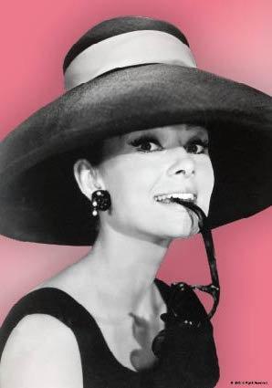 Audrey Hepburn mit Hut und Sonnenbrille | US Import Filmplakat, Poster [68 x 98 cm]