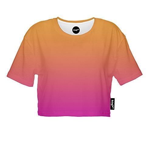 Fringoo Damen T-Shirt mehrfarbig mehrfarbig One size Ombre Orange - Tee