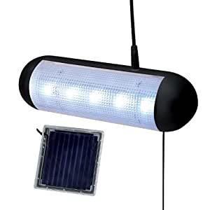 Solalite 5 LED Solar Powered Rechargeable Garage Greenhouse Shed Light Amazo