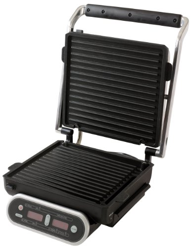 Morphy Richards Intelli Grill 48018 Digital Cooking Grill, Stainless Steel