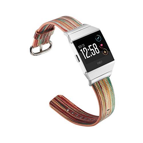 Fitbit Uhrenband Armband Leder Flex Ersatzarmband Zubehör Lederarmband Ersatzband Smart Watch Armband Sportuhr Armband mit Edelstahl Metall Schließe Fitness Verstellbares Lederarmband Wasserdicht