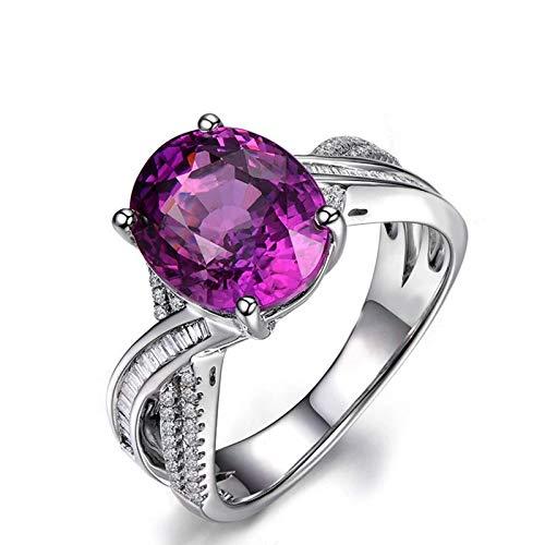 Anello fidanzamento donna argento 925 blu zirconi anelli argento fedina misura 12