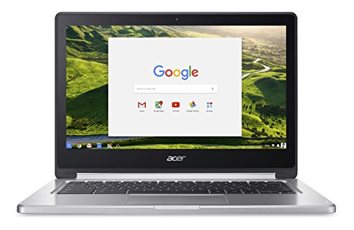 "Acer Chromebook R 13 CB5-312T-K56E - Processore MTK MT8173 Quad-Core - Ram 4GB - Display 13""FHD Multi-touch LCD - Sistema Operativo Google Chrome, Grigio"