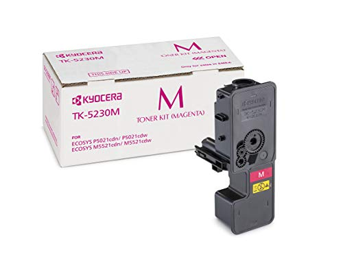 Kyocera TK-5230M Original-Toner-Kartusche Magenta 1T02R9BNL0. Für ECOSYS M5521cdn, ECOSYS M5521cdw, ECOSYS P5021cdn, ECOSYS P5021cdw. Amazon Dash Replanishment-Kompatibel
