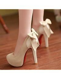 AIURBAG Mujer Zapatos PU Primavera Otoño Confort Tacones Tacón Stiletto Dedo  redondo Con Para Casual Negro Beige Color Camello  b0eb7c08fac6