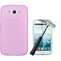 OVIphone Funda Gel TPU Para SAMSUNG GALAXY GRAND NEO / NEO PLUS + Cristal Templado (Color Rosa)