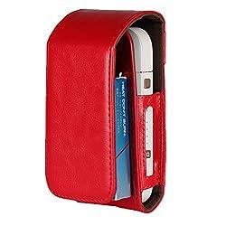 EximMobile - Tasche für IQOS Schutz Case in rot Schutzhülle Schutztasche Etui Cover Bag