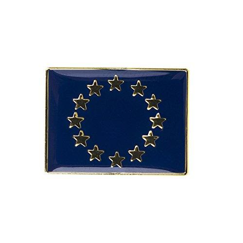 Patch Nation Europäische Union EU Europa rechteckig Flagge Metall Button Badge Pin Pins Anstecker