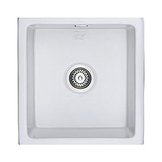 Rangemaster CRUB4648WH Rustique Single Bowl Undermount Ceramic Sink - White