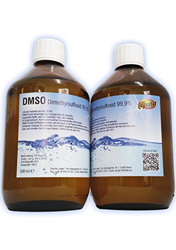 Preisvergleich Produktbild DMSO 1000 ml in Braunglasflasche 2 x 500 ml !!! Dimethylsulfoxid 99,9%