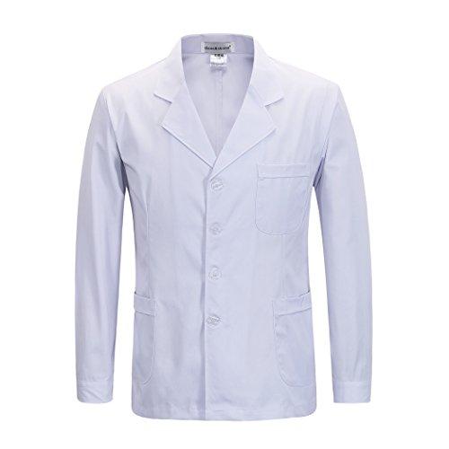 Langärmelige kurze abschnitt kittel ärzte krankenschwestern bekleidung arbeitskleidung arbeit (männer, XXXL)