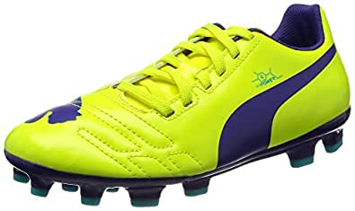 Puma evoPOWER 4 AG Jr Unisex-Kinder Fußballschuhe, Gelb (Yellow-Violet-Scuba Blue), 34 EU