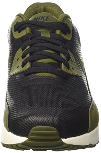 Nike Herren Air Max 90 Ultra 2.0 Essential Sneakers Schwarz (Black/legion Green-sail)