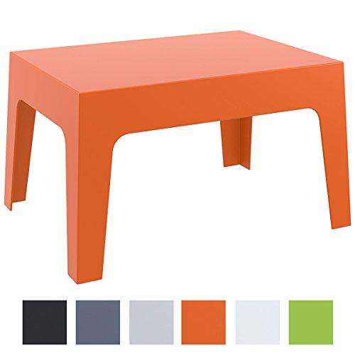 CLP Gartentisch Box aus Kunststoff I Stapelbarer Beistelltisch mit Einer Höhe von: 43 cm I Wetterfester Outdoor-Tisch I verfügbar