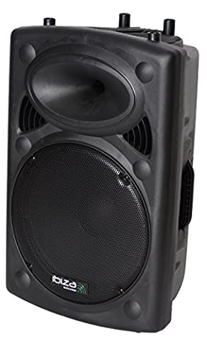 Ibiza SLK15 A USB Full Range Speaker – Black