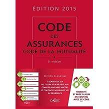 Code des assurances, code de la mutualité 2015 - 21e éd. de Louis Perdrix (6 mai 2015) Relié