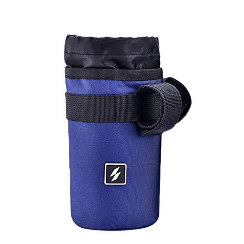 Yue668 Fahrrad Radfahren Mountain Road Bike Flaschenhalter Tasche Rennrad Radfahren Isolierte Wasserkocher Tasche Käfig Rack 750 ml (Blau)