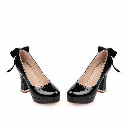 MissSaSa Donna Scarpe col Tacco Alto Elegante Ballo Nero