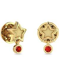 PC Jeweller The Ashwina 22KT Yellow Gold & Gemstone Earring