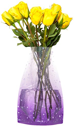 Gift House International - Jarrón plegable portátil Droplets (Droplet-vase)