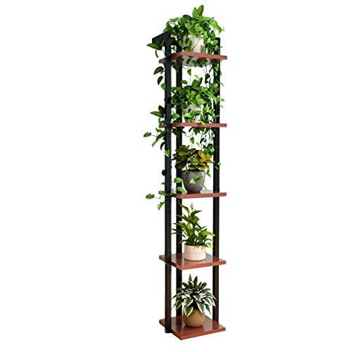 yangxiao01 Blumenregal Mehrschichtig Indoor Blumentreppe Balkon Wohnzimmer Verschleißfest Blumentopf Display Rack,3/4/5 Ebenen zur Auswahl -