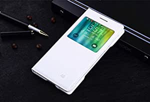 Frosskin Samsung Galaxy J5 2016 Version Faux Leather Front / Back Portions Flip Cover Samsung Galaxy J5 2016 Version Flip Cover White