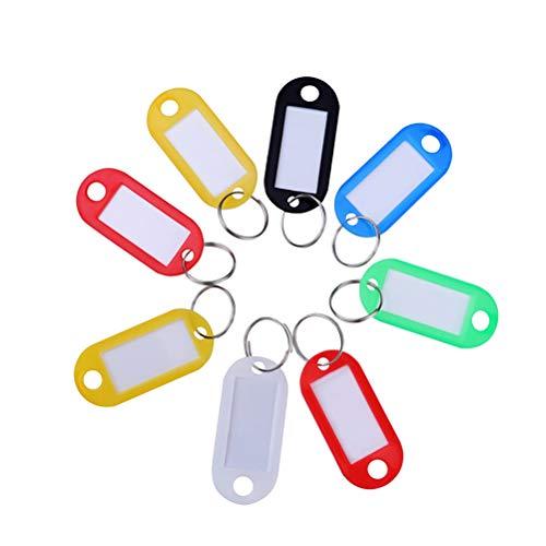 üsselanhänger mit Etiketten Schlüsselanhänger Gepäck ID Label Tags Zufällige Farbe ()