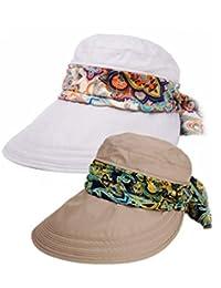 fb898266e09d5 Roll Up Wide Brim Sun Visor UPF 50+ Protección UV Sun Hat con protector de