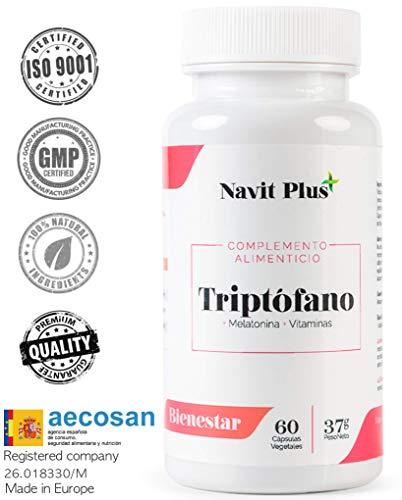 L-Triptófano de Navit Plus. Triptófano 500 mg + B6 + B3 + B2 +