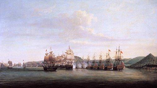 stampa-artistica-poster-dominic-serres-barringtons-action-at-santa-lucia-1778-stampa-di-alta-qualita